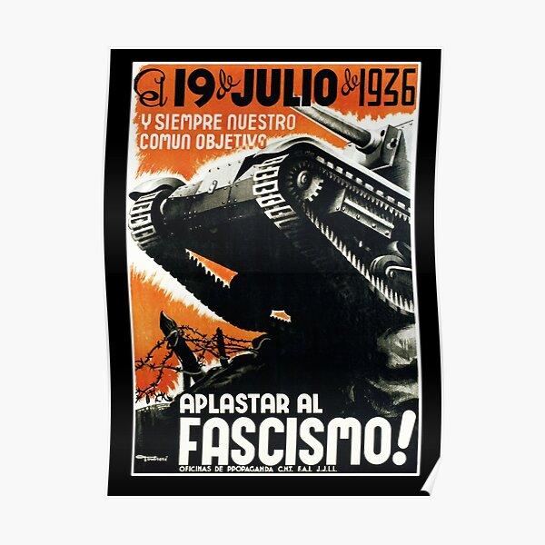 Guerra Civil Española 1936 APLASTAR AL FASCISMO !, ¡APLASTAR EL FASCISMO! Póster