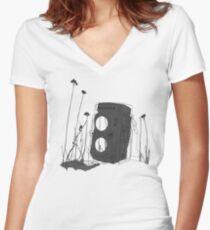 Revolution (Black) Women's Fitted V-Neck T-Shirt