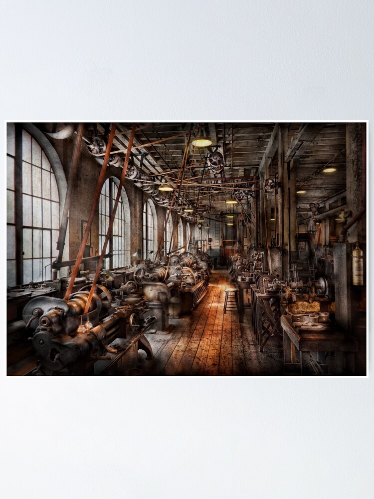 Alternate view of Machinist - A fully functioning machine shop  Poster