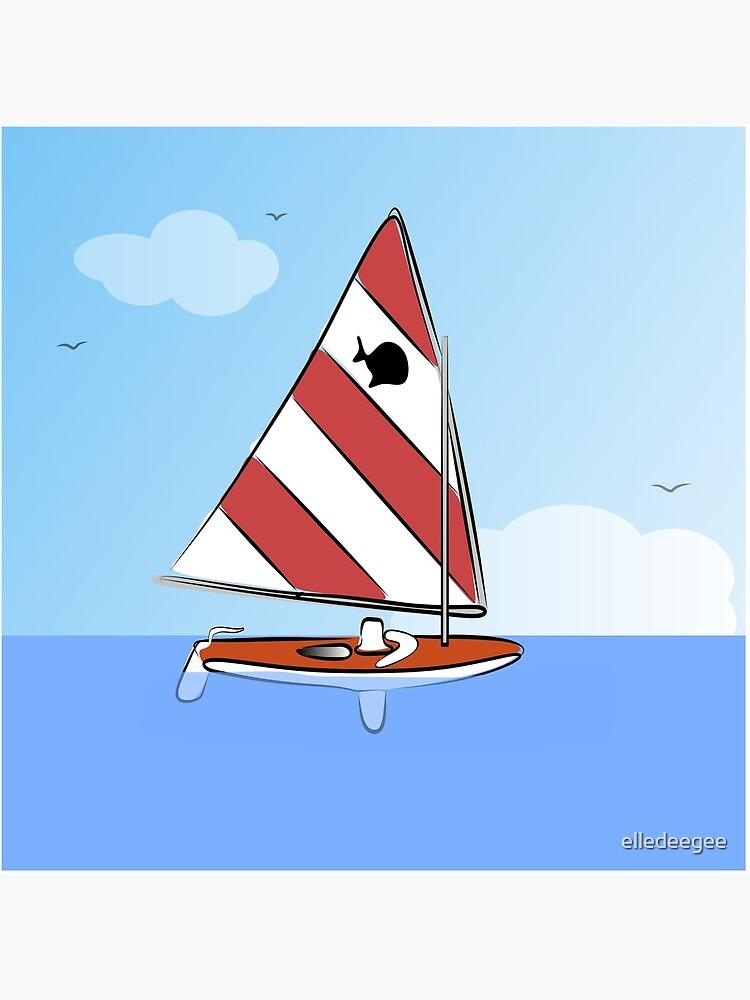 Sunfish Sailboat by elledeegee