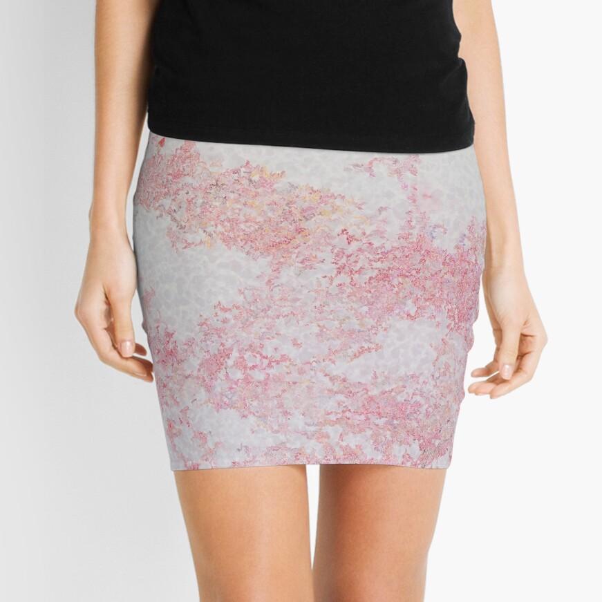 Red Patterns (Japanese design)  Minifalda