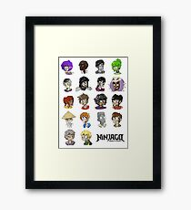 Ninjago Season 4  Framed Print