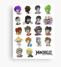 Ninjago Season 4  Metal Print