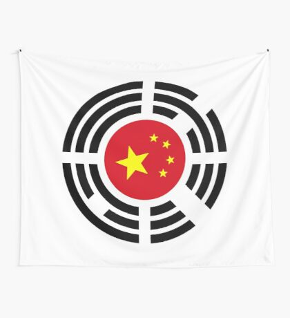 Korean Chinese Multinational Patriot Flag Series Wall Tapestry