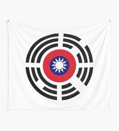 Korean Taiwanese Multinational Patriot Flag Series Wall Tapestry