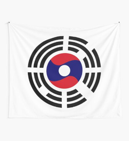 Korean Laotian Multinational Patriot Flag Series Wall Tapestry
