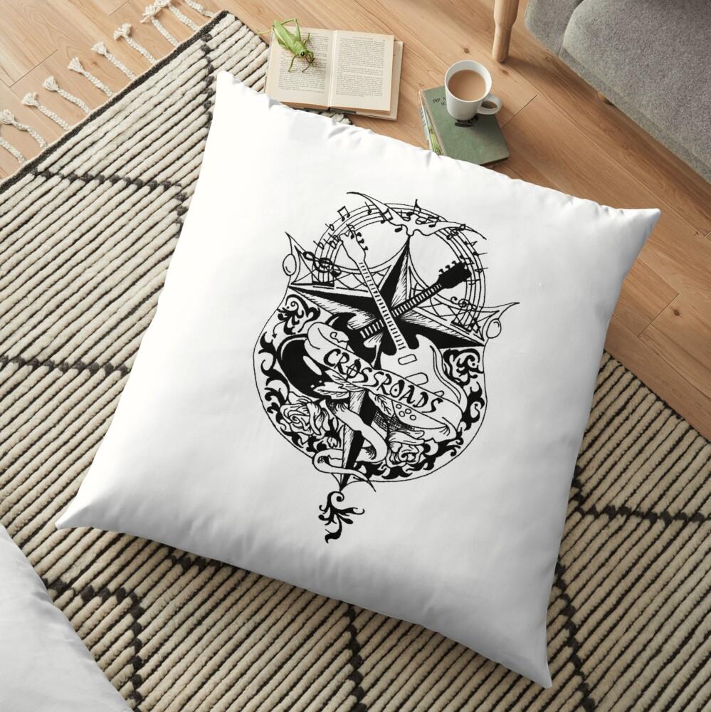 Cross Roads Floor Pillow
