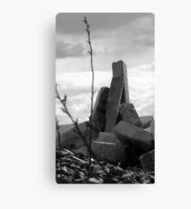 abandoned concrete railway sleepers Canvas Print