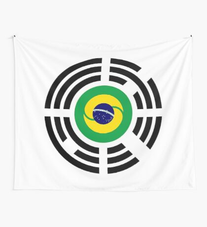 Korean Brazillian Multinational Patriot Flag Series Wall Tapestry