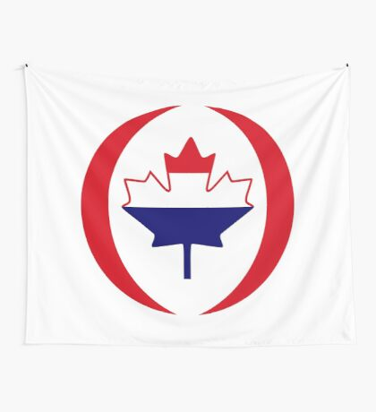 Dutch Canadian Multinational Patriot Flag Series Wall Tapestry
