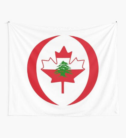 Lebanese Canadian Multinational Patriot Flag Series Wall Tapestry