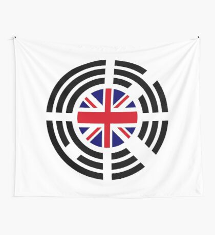 Korean Brit Multinational Patriot Flag Series Wall Tapestry