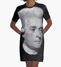 American Founding Father, president Jefferson Portrait T-shirt Graphic T-Shirt Dress