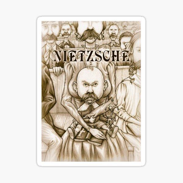Young Nietzsche Sticker