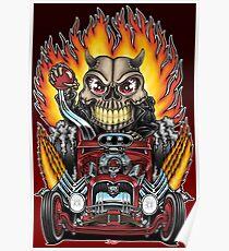 Hot Rod Skull Racer Poster