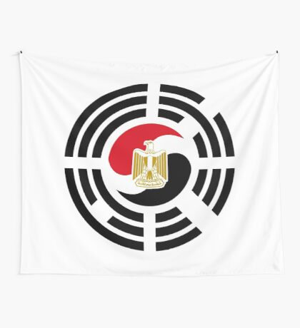 Korean Egyptian Multinational Patriot Flag Series Wall Tapestry