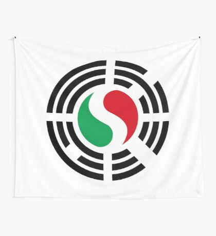 Korean Italian Multinational Patriot Flag Series Wall Tapestry