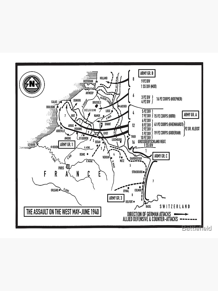 German Assault On The West May-June 1940 by Battlefield