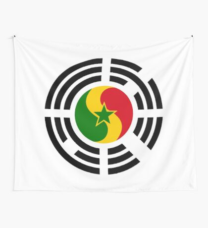 Korean Senegalese Multinational Patriot Flag Series Wall Tapestry