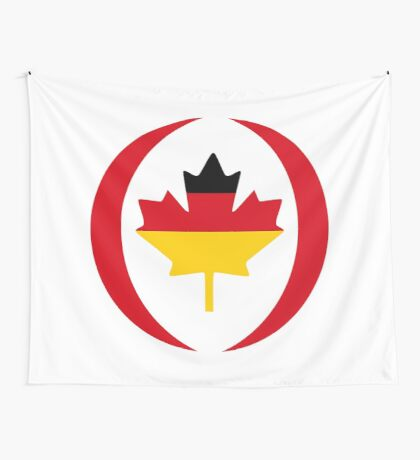 German Canadian Multinational Patriot Flag Series Wall Tapestry