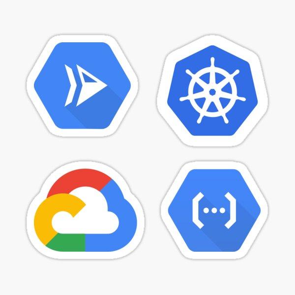 Google Cloud, Cloud Functions, Cloud Run, Kubernetes Combo Pack Sticker