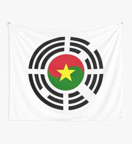 Korean Burkina Faso Multinational Patriot Flag Series Wall Tapestry