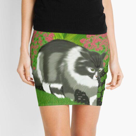 Cat In The Garden Mini Skirt