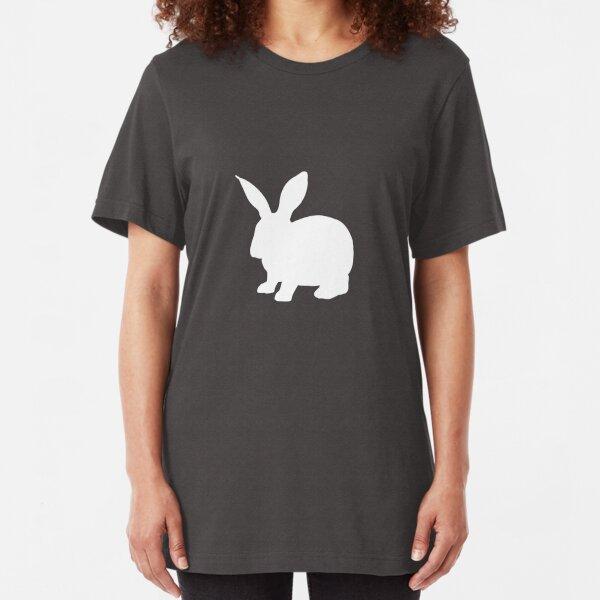 minimalist rabbit Slim Fit T-Shirt