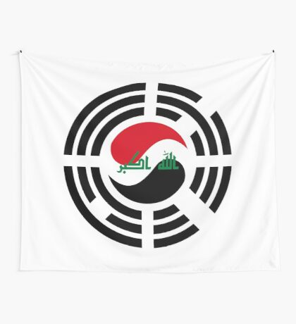 Korean Iraqi Multinational Patriot Flag Series Wall Tapestry