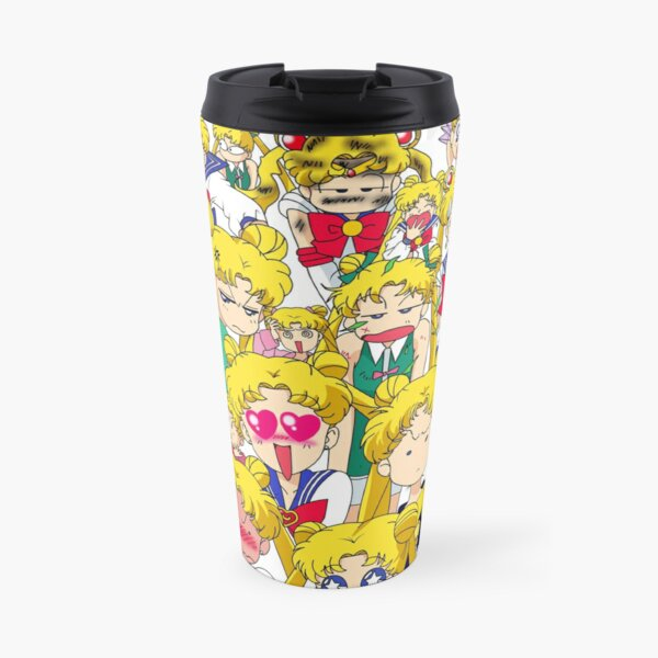Usagi's faces Travel Mug