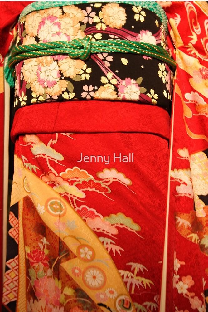 The red kimono by Jenny Hall