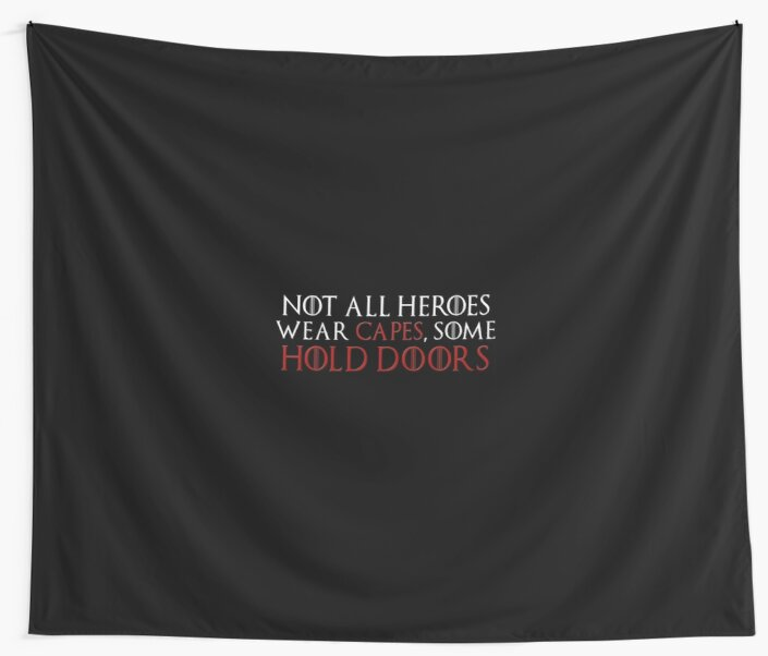 "GAME OF THRONES HODOR /""NOT ALL HEROES WEAR CAPES.../"" SWEATSHIRT NEW"