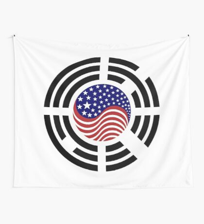 Korean American Multinational Patriot Flag Series 4.0 Wall Tapestry