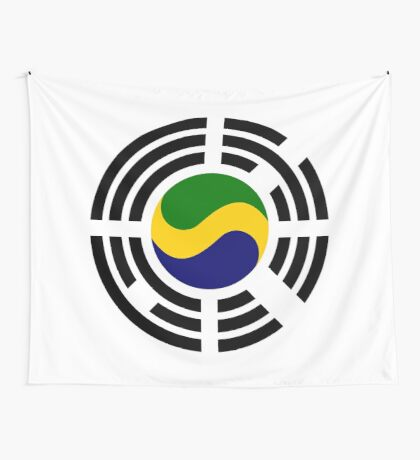 Korean Gabonese Multinational Patriot Flag Series Wall Tapestry