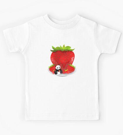 Panda & Strawberries  Kids Clothes
