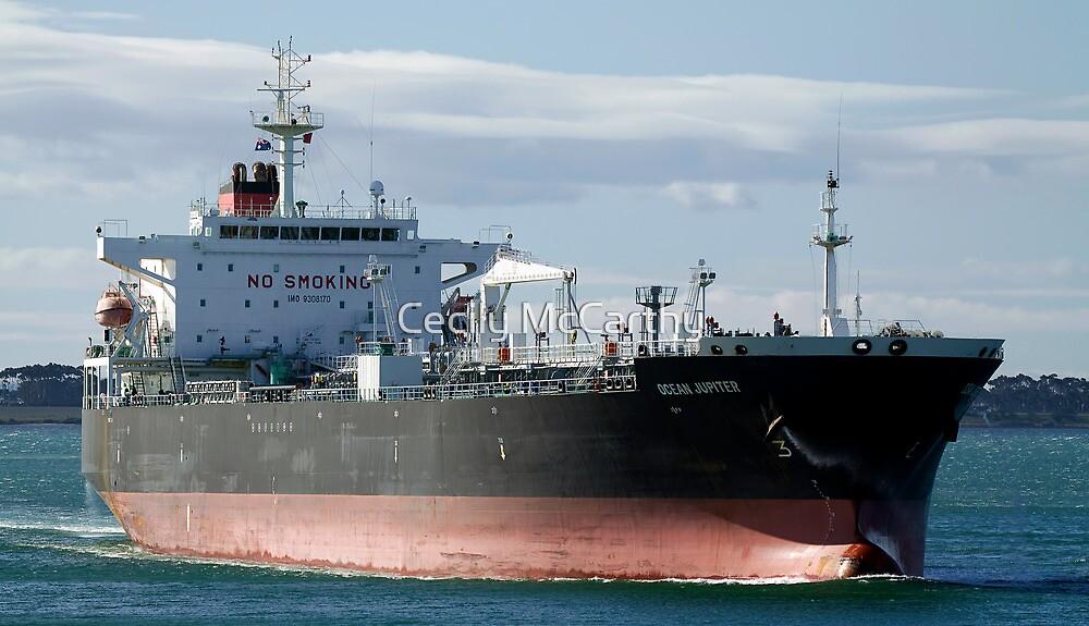 Ocean Jupiter - Crude Oil Tanker by Cecily McCarthy