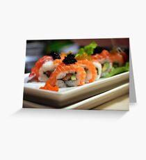 Sushi art Greeting Card