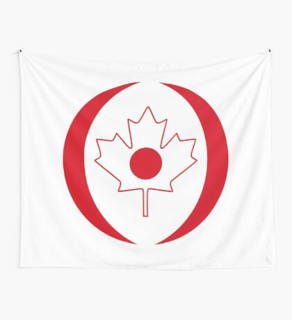 Japanese Canadian Multinational Patriot Flag Series Wall Tapestry