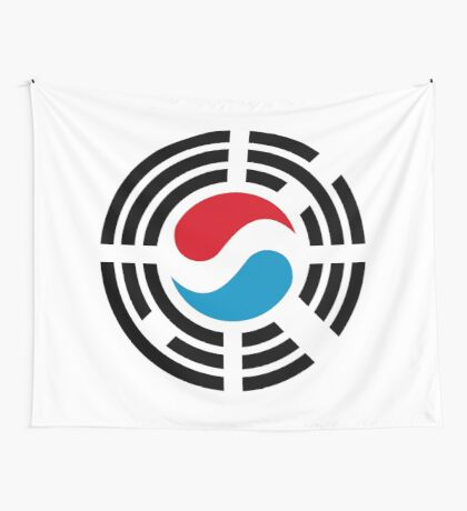 Korean Luxembourg Multinational Patriot Flag Series Wall Tapestry