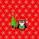 Winter-Weihnachtspinguin von Sartoris Art & Photography