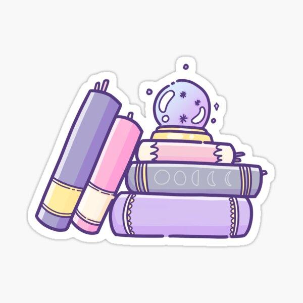 Stack of Spellbooks Sticker