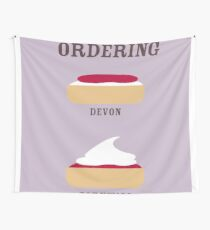 CREAM TEA ORDERING Wall Tapestry