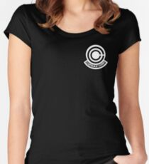 Capsule corp logo Fitted Scoop T-Shirt