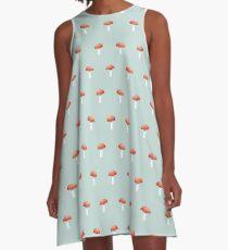Mushroom Friends A-Line Dress