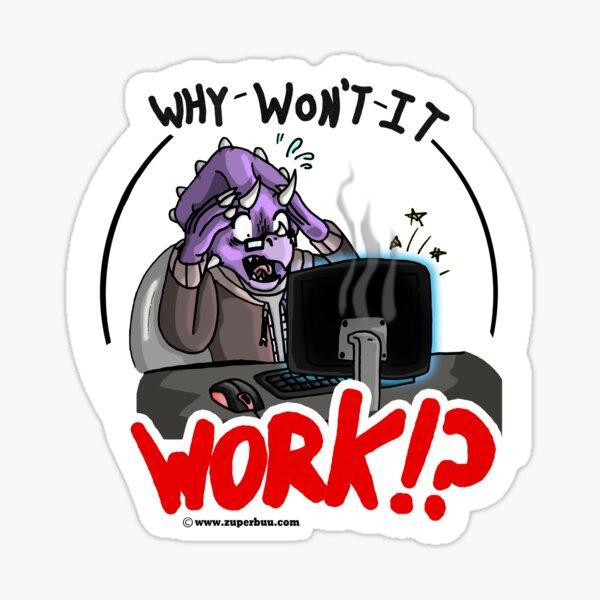 A Very Stressed Trike Sticker