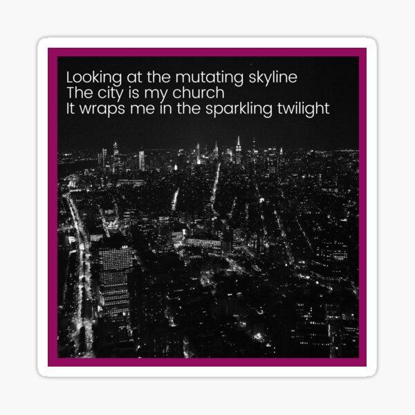 City Lights Quotation (M83) Sticker