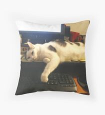 I'm Too Tired To Finish My Email!  Throw Pillow