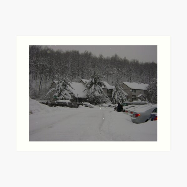 Lots and lots of snow Art Print