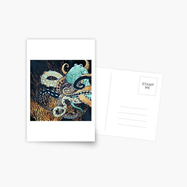 Metallic Octopus II Postcard