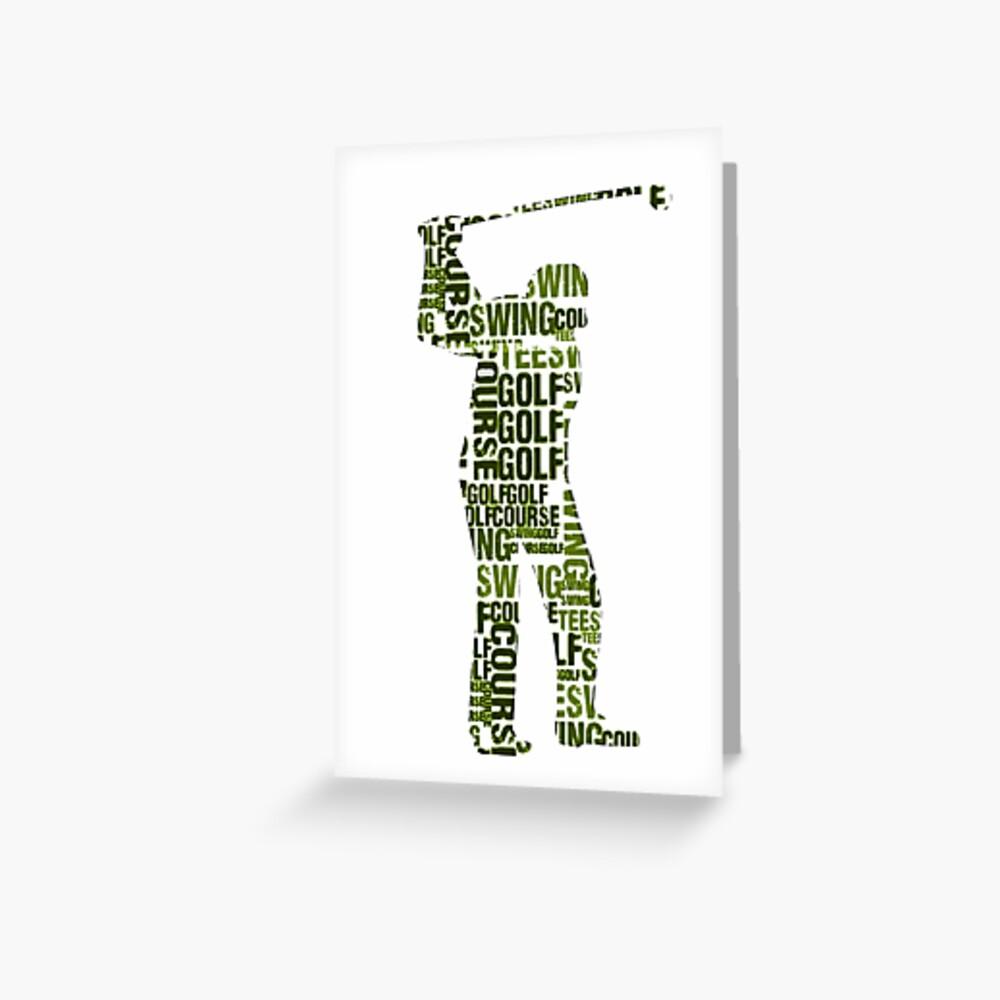 Golf sports Greeting Card
